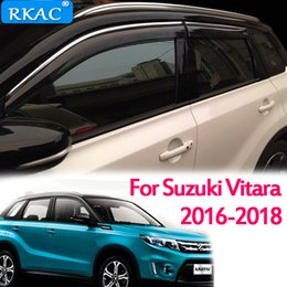 $enCountryForm.capitalKeyWord Australia - RKAC For Suzuki Vitara 2016 - 2018 car body styling Stick lamp plastic Window glass Wind Visor Rain Sun Guard Vent 4pcs