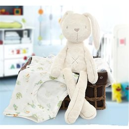 Wholesale Toy Monkeys Australia - British Aristocrat MaMas & papas Obedient Smooth Rabbit Baby Sleep Calm Doll 40cm Pacify the sleeping doll Plush Bunny new Toys K0181