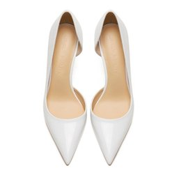 $enCountryForm.capitalKeyWord UK - Casual Designer Sexy lady fashion WHITE PATENT LEATHER point toe high heels pumps 12cm 10cm 8cm Stiletto heeled bride wedding shoes new