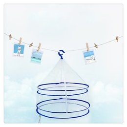 Clothes For Plush Toys Australia - Foldable Drying Racks Hanging Clothes Laundry Net Mesh Basket Dryer Net for Underwears Lingerie Woollen Sweater Baby Garments Plush Toys