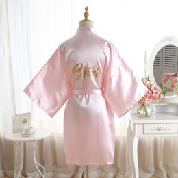 Wholesale Wedding Bathe Robe Bridesmaid Bride Mother Dressing Gown Womens plain Silk Satin Robes Bridal Wedding Bridesmaid Bride Gown bath robe