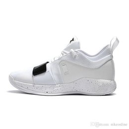 128402b3b73 Cheap new 2018 Mens PG 2.5 Elite basketball shoes 2s Triple White Black Zoom  Air Cushion Paul George PG2 sneakers with original box for sale