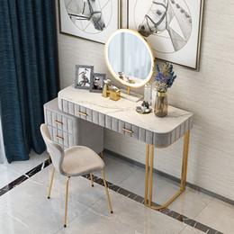 Wholesale Nordic Solid Wood Dressing Table Bedroom Modern Minimalist Window Dressing Table Storage Unit 2019 New