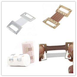 Wholesale 10pcs Wrap Stretch Metal Clips Replacement Elastic Bandage Fixation Clamps Hooks Brace White Coffee Color