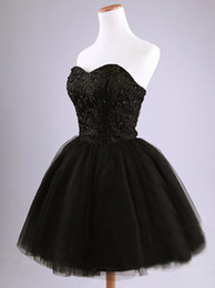 Vente en gros Robe de bal courte en dentelle noire Pageant robes de soirée pour femmes Custom formelle robe de mariée occasion spéciale robe de soirée demoiselle d'honneur