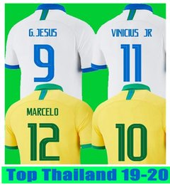 572486e17f9 Thailand Brazil soccer jerseys camisa de futebol copa america 2019 2020  brasil camiseta COUTINHO VINICIUS jersey NEYMAR JR football shirts