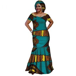 e71745df644e Scarf Summer Dresses UK - 2019 Summer African Dresses for Women Vestidos  Free Scarf Africa Clothing