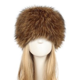 93ab3a5d9a0 2019 New Fake fur hat Women Winter Faux Rabbit Fur Snow Hat Full Cap Warm  Thick Russia Warm chapeau femme Beret Beanies