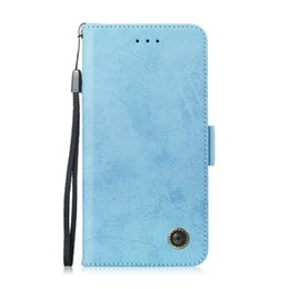 Leather Flip Cases For Iphone Australia - Flip Stand For iPhone 5S SE 6 6S 6 6S Plus Case Pure Retro Leather Cover design Mobile Phone Bags Card slot function