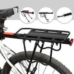 $enCountryForm.capitalKeyWord Australia - Cycling Bicycle Carrier Rear Luggage Rack Shelf Bracket Aluminum Bicycle Carrier 115 Lb Capacity Easy to Install Black