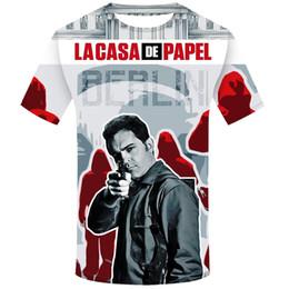 Top 3d movies online shopping - Movie Money Heist The House of Paper La Casa De Papel T Shirt Men Funny Berlin D Print T shirt Mens Clothing Summer Tops tee