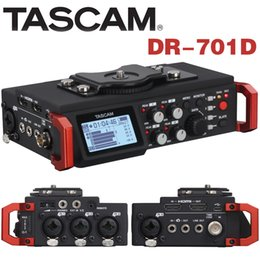 Camera Recorder 4gb Australia - Tascam DR-701D Linear PCM Recorder   Mixer for DSLR Camera SMPTE Timecode Portable Audio System Video Production