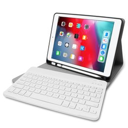 Waterproof tablet cases online shopping - Keyboard Tablet Case PU Leather Wireless Bluetooth Flip Case Stand Cover Waterproof Shockproof Anti Dust for iPad air1 pro ipad