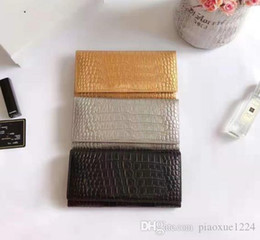 Folding clamp online shopping - New Designer s Wallet Women s Long Clamp Three fold Wallet High Quality Stone grain Leather