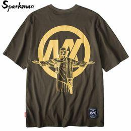 hip hop t shirts big prints 2019 - Hip Hop Oversized T Shirt Streetwear 2019 Summer Men Character Tshirts Big Print T-Shirt Loose Casual Cotton Tops Tees F