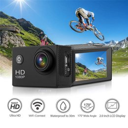 """12mp Action Camera NZ - Action Camera Underwater Mini Cam WiFi 1080P Full HD 12MP 30m Waterproof 2"""" LCD 170 Degree Sports Camera with Mounting Accessory Kits"""