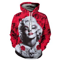 d53ff9c910c1 3d Hoodies Pullover Marilyn Monroe Rose Printed fashion hip hop Long Sleeve  men women Hoodie Hooded Sweatshirt Coat