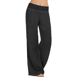 $enCountryForm.capitalKeyWord UK - 2019 Plus Size Women High Waist Waist Wide Leg Pants Denim Blue Jeans Long Party Palazzo Ladies Elegant Trouser