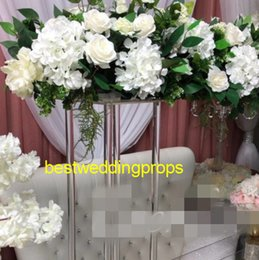 $enCountryForm.capitalKeyWord UK - New style Tall Large Crystal Chandelier Metal Wedding Flower Floral Stands,Walkway Stand For Wedding Decoration best01142