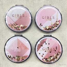 $enCountryForm.capitalKeyWord Australia - wholesale Mini Pocket Cosmetic Mirror Fashion girls Exquisite Shining Makeup Mirrors Compact Beauty Double-sided Mirror Magnifier mirror V