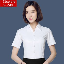 1090be40d36 Summer White Short Sleeve Shirt Hot Women Fashion Ol 2016 White Blouses