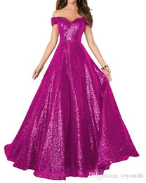 $enCountryForm.capitalKeyWord Australia - New Bridal Sweetheart Off Shoulder Maxi Evening Dress Elegant Backless Lace-up All Color Customized Lady Party Sequin Dress