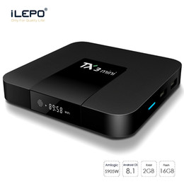 android tv box 2gb ram 16gb Canada - 1 Piece TX3 Mini Android TV Box Amlogic S905W Quad Core 2gb Ram 16gb Rom 4k hd wifi H.265 Set-top TV Box