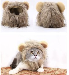 Cat Hat Ornaments Australia - Pet Dog Hats Puppy Lion transformation Hat Adjusted Teddy Cat Wigs Cosplay Apparel Hats 3 Sizes