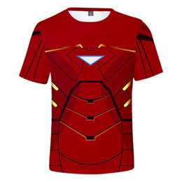 $enCountryForm.capitalKeyWord Australia - 3D The Iron Man Men T-shirt Boys Fashion Black Panther Cosplay Costume Short Sleeve O-neck T shirts Tops Tee