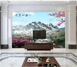 Small House Decoration Australia - 3D wallpaper custom photo silk mural wall paper New Chinese style small fresh garden scenery TV background wall decoration