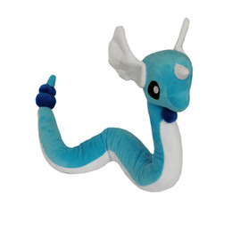 start toys UK - High Quality 100% Cotton New Dragonair Plush Toy For Child Holiday Best Gifts 27.5inch 70cm