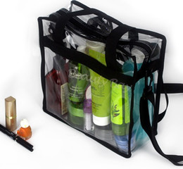 $enCountryForm.capitalKeyWord Australia - professional transparent beauty cosmetic bag with handle zipper shoulder strap clear PVC waterproof plastic makeup storage organizer