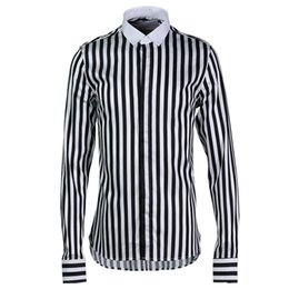 man casual long shirt trends UK - New Classic Striped Men Shirt Fashion Trend Long Sleeve Mens Dress Shirt Camisa Masculina Mens Shirts Casual Slim Fit Plus Size