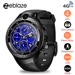 "smart watch phone 4g NZ - Newest Zeblaze THOR 4 Dual 4G Smart Watch Phone 5.0MP Dual Camera Android Watch 1.4"" AOMLED GPS GLONASS 1GB 16GB Smart Men"
