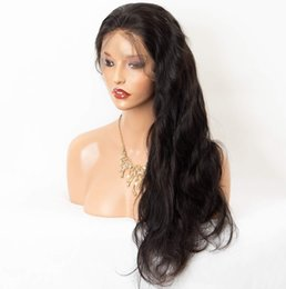 loose ponytails Australia - 360 Lace Wig with Natural Hairline and High Ponytail Brazilian Virgin Human Hair Wigs for Women 150% Extra Heavy Density Natural Color