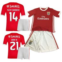 aece38f8127 19 20 Benfica kids soccer jerseys HOME KITS 2019 2020 JOAO FELIX RAFA  SEFEROVIC JONAS GRIMALDO boys FOOTBALL kit SHIRTS
