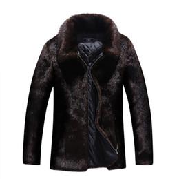 Faux Mink Jackets Australia - Imitation mink coat Men Faux Fur Coats hooded men's fur Long Sleeve Thicken Warm Winter Jackets Coats Male Fashion Zipper Outerwears