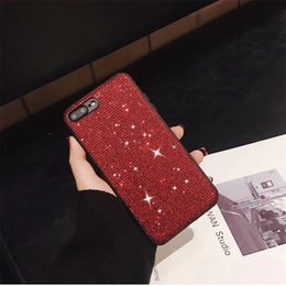 $enCountryForm.capitalKeyWord Australia - New Design Rhinestone Mobile Phone Case For Iphone Apple xr xs Max 6 7 8 Plus Diamond Bling Phone Back Case Plating Tpu Protective Cover