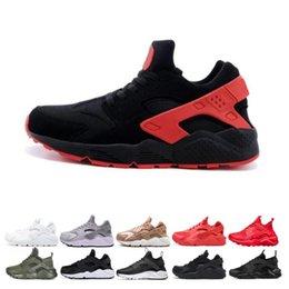 $enCountryForm.capitalKeyWord Australia - Huarache run ultra running shoes for men women triple black white red breathable mens trainer fashion sports sneakers runner size 36-45