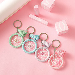 beautiful rings for women 2019 - Dream catcher key chain Creative handmade keychains girl bags decorative pendant charm beautiful key ring For Woman chea