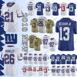 ee1bd0be9 Cheap sales New York Gaint Jersey 26 Saquon Barkley 13 Odell Beckham Jr 21  Landon Collins 10 Eli Manning 87 Sterling Shepard Jerseys