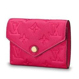Chinese  M62554 VICTORINE WALLET Embossing rose red Real Caviar Lambskin Chain Flap Bag LONG CHAIN WALLETS KEY CARD HOLDERS PURSE CLUTCHES EVENING manufacturers