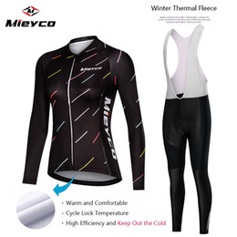 winter thermal fleece cycling jersey clothing NZ - Ropa ciclismo Warm 2020 Winter Thermal Fleece Cycling Clothes Women's Jersey Suit Outdoor Riding Bike MTB Clothing Bib Pants Set