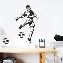 sticker wall boy room Australia - Football Wall Stickers Self-adhesive Wall Stickers Male Star Living Room Bedroom TV Background Boys Dormitory Wall stickers