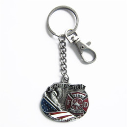 Discount flags rings Wholesale Retail Key Ring (Hero Fire Firefighter) Free Shipping