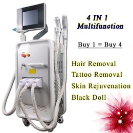Laser Hair Face Canada - q switch nd yag laser tattoo removal system OPT SHR IPL Machine professional laser hair removal machine for sale RF face lifting