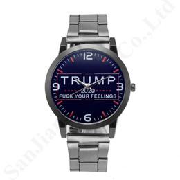 Toptan satış Erkekler Kadınlar Alaşım Paslanmaz Kayış Watch bandı Retro Unisex Saatler B82702 için Trendy Kuvars saatler Trump 2020 Bilek Saatler