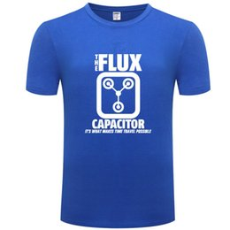 Flux blue online shopping - Flux capacitor t shirt Makes time travel possible short sleeve tops Words colorfast tees Unisex print clothing Pure color tshirt