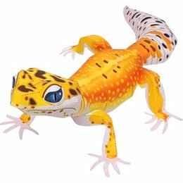 pattern batteries NZ - Leopord Pattern Gecko 3D Paper Model Parent And Child DIY Cartoon Animal Kindergarten Handmade Paper Folding Children'S Educatio