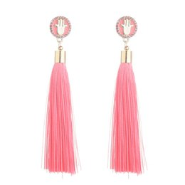 $enCountryForm.capitalKeyWord UK - 8ColoMs. Multicolor Crossover Trends Explosion Fashion Retro Fringe Alloy Bohemian National Style Long Exaggerated Earrings Boutique Jewelry